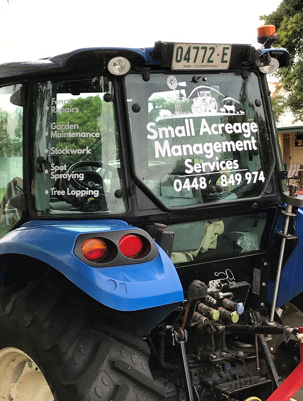 tractor logo small acreage management services